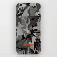 Modern Woodgrain Camouflage / Winter Birch Woodland Print iPhone & iPod Skin