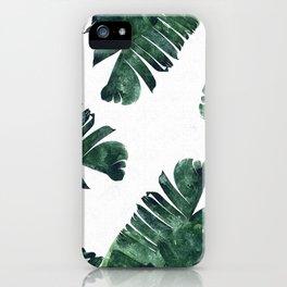 Banana Leaf Watercolor #society6 #buy #decor iPhone Case
