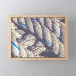 Crossing sling rope Framed Mini Art Print