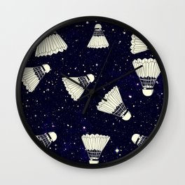 Space Shuttlecock Wall Clock