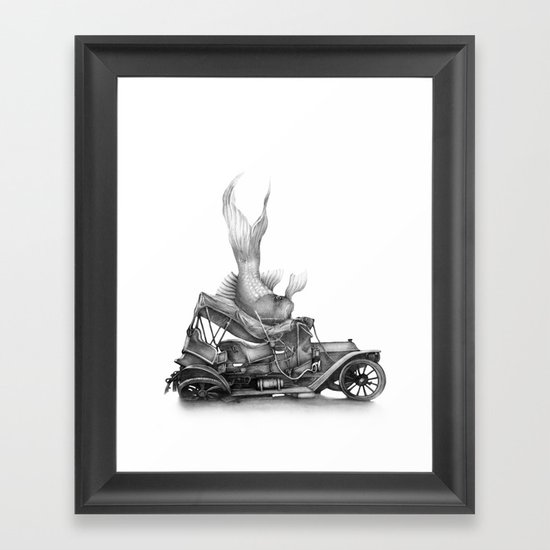 In which a goldfish spoils an outing Framed Art Print