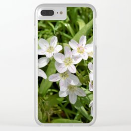 Spring Beauties Clear iPhone Case