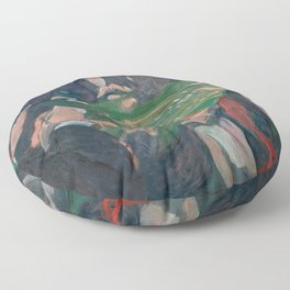Edvard Munch - At the Roulette Table in Monte Carlo Floor Pillow