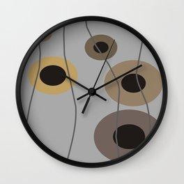 Circles of Brown Wall Clock