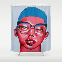 austin Shower Curtains featuring AUSTIN by Zelda Bomba