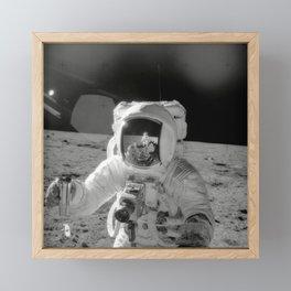 Astronaut on the Moon Framed Mini Art Print