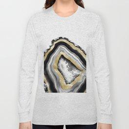 Agate Gold Foil Glam #1 #gem #decor #art #society6 Long Sleeve T-shirt