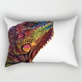Iguana Watercolor Painting By Windy Shih Rectangular Pillow