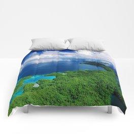 WOW!!! PALAU!! Tropical Island Hideaway Comforters