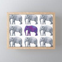 Elephants Framed Mini Art Print