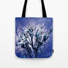 Thistle and Weeds_deep purple Tote Bag