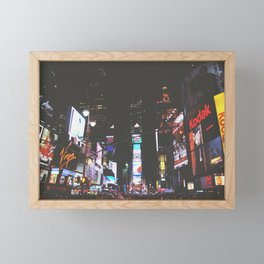 Evening Glow - Times Square Framed Mini Art Print