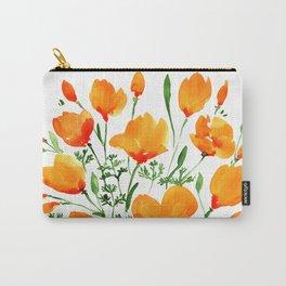 Watercolor California poppies Tasche