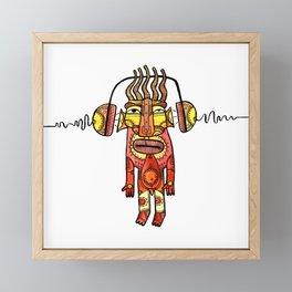 Music beat Framed Mini Art Print