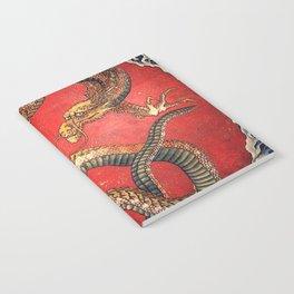 Dragon by Hokusai Notebook
