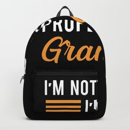 Grandad Professional Retired - Funny Gift Grandpa Backpack