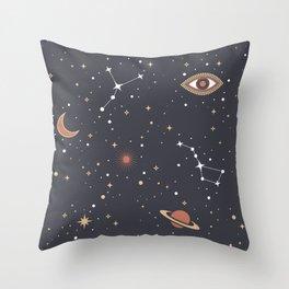 Mystical Galaxy Throw Pillow