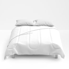 Black Writer's Quill Comforters