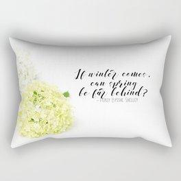 Hope for Spring in the Winter Rectangular Pillow