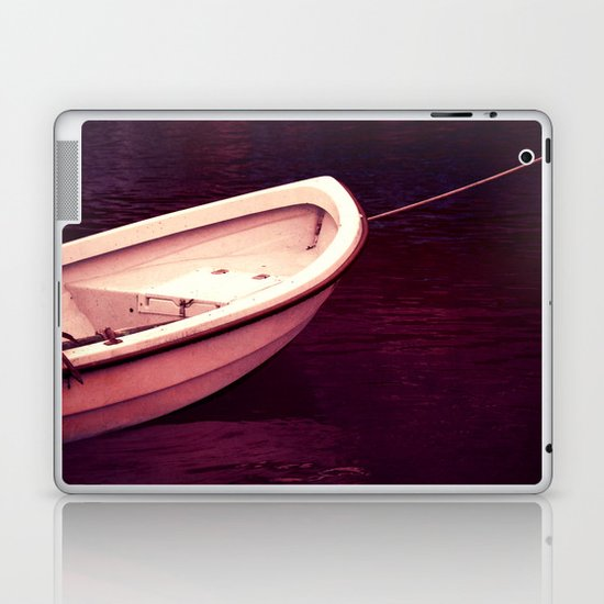 white boat Laptop & iPad Skin