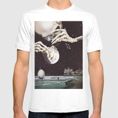 Cosmic Dead White MEDIUM Mens Fitted Tee