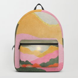 Colorful mountains Backpack