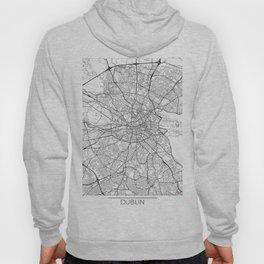 Dublin Map White Hoody