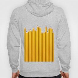 Pencil row / 3D render of very long pencils Hoody