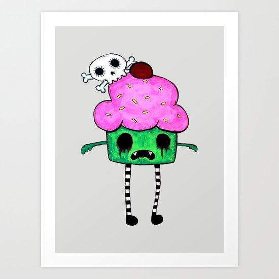 Zombie Cuppy Wants Your Brainz Art Print