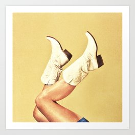 These Boots - Yellow Art Print