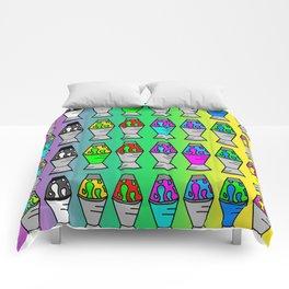 Lava Lamp Colorful Pattern Comforters