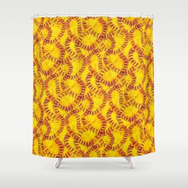 Orange Peel Impressions Shower Curtain