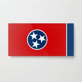 State flag of Tennessee Metal Print