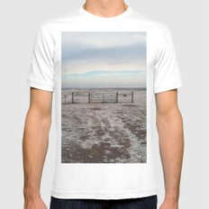 Snowy Gate MEDIUM White Mens Fitted Tee