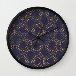 Infinity Dotted Ornaments dark Wall Clock