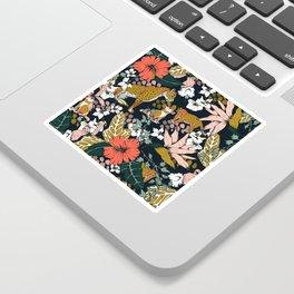 Animal print dark jungle Sticker