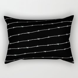 Cool black and white barbed wire pattern Rectangular Pillow