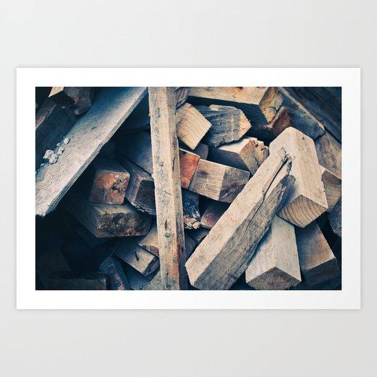 Wood Scraps Art Print