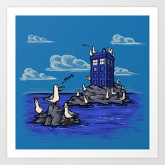 The Seagulls have the Phonebox Art Print