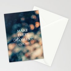 Make Every Moment Count Stationery Cards