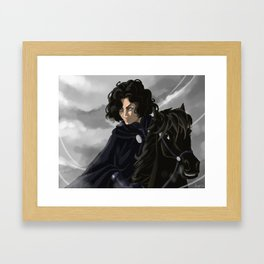 Riding in a greyish day Framed Art Print