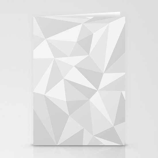 White Deconstruction Stationery Cards