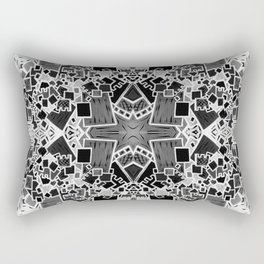 Tate - Created by a Genius (Square/Sym/BW) Rectangular Pillow