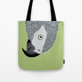 African Grey Parrot [ON MOSS GREEN] Tote Bag
