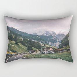Swiss Train Ride Rectangular Pillow