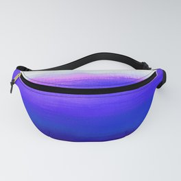Peace 1 Blue Landscape Abstract Fanny Pack
