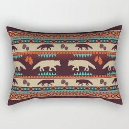 Boho animals | Autumn fox sunset Rectangular Pillow