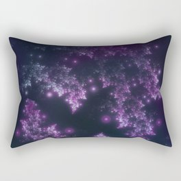 Fractal Leaves Violet Glow Rectangular Pillow