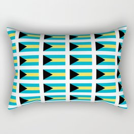 flag of Bahamas – Nassau,Bahamian,Bahamianese,Junkanoo,Regattas Rectangular Pillow
