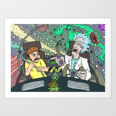 Rick and Morty by Aaron Bir Art Print